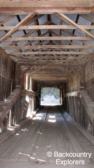 Looking thru the covered bridge.
