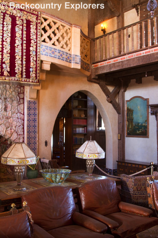 Main living area of Scotty's Castle