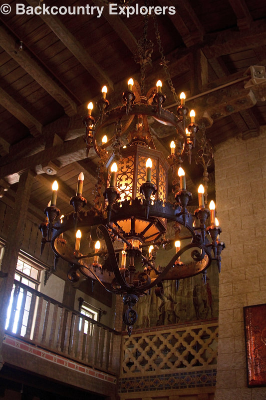 Lighting in castle